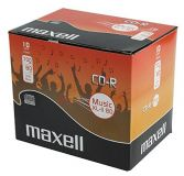 Maxell CD-R XL-II Audio 80 minute CD 10 Pack Jewel Case